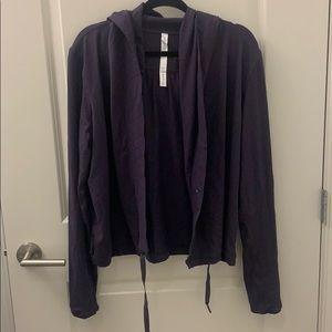 Lululemon Purple Hooded Cardigan